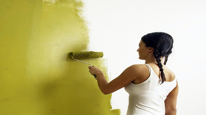 Painting the walls to give bedchamber a new look