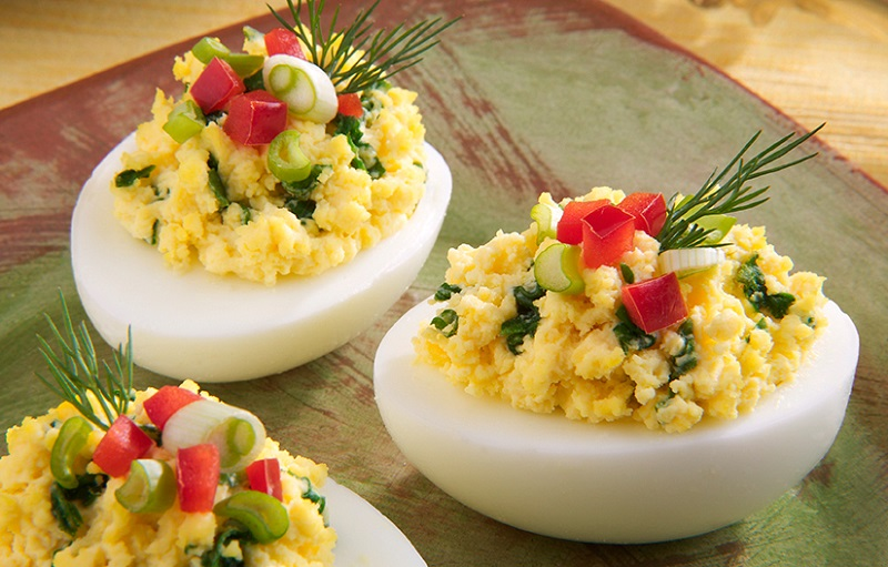 TRADITIONAL STUFFED EGGS, PROTEIN FITNESS DISH