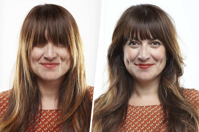 How to cut your bangs at home: